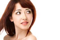 Cara de la mujer de la belleza imagen de archivo