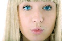 Cara de la mujer de la belleza Imagenes de archivo