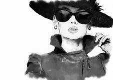 cara de la mujer de la manera ilustración del vector