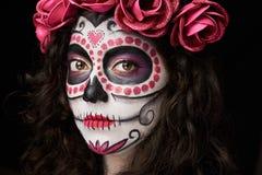 Cara de la mujer de la muerte Imágenes de archivo libres de regalías