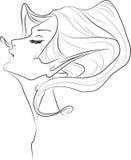 Cara de la mujer del duende Imagenes de archivo