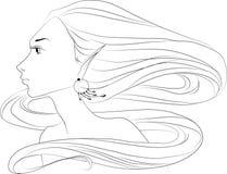 Cara de la mujer del duende Foto de archivo libre de regalías