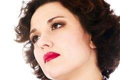Cara de la mujer del primer Imagen de archivo libre de regalías