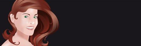 Cara de la mujer en negro Fotografía de archivo