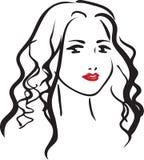Cara de la mujer hermosa joven ilustración del vector