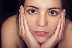 Cara de la mujer joven Imagen de archivo