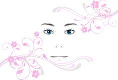 Cara de la mujer joven stock de ilustración