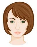Cara de la mujer joven Imágenes de archivo libres de regalías