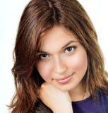 Cara de la mujer joven con la piel limpia perfecta Imágenes de archivo libres de regalías