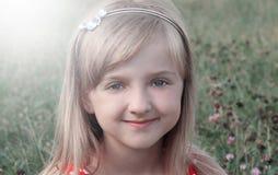Cara de la niña Cierre para arriba Fotos de archivo