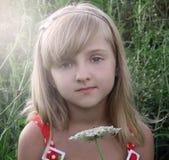 Cara de la niña Cierre para arriba Imagenes de archivo