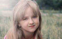 Cara de la niña Cierre para arriba Fotografía de archivo libre de regalías