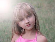 Cara de la niña Cierre para arriba Fotografía de archivo