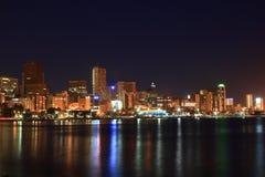 Cara de la noche de Durban Foto de archivo