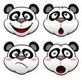 Cara de la panda de la historieta stock de ilustración