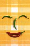 Cara de la pimienta de chile caliente Imagen de archivo