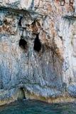 Cara de la roca - isla de Zakynthos Imágenes de archivo libres de regalías