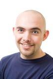 Cara de la sonrisa hermosa en negrilla del hombre Foto de archivo libre de regalías