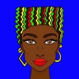 Cara de las muchachas del garabato Retrato para mujer para el libro de colorear adulto Ilustración del vector stock de ilustración