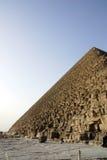 Cara de las pirámides de giza Imagenes de archivo