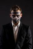 Cara de los hombres de Halloween pintada Imagen de archivo libre de regalías