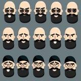 Cara de los hombres de la historieta Fotos de archivo libres de regalías