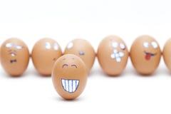 Cara de los huevos Foto de archivo