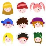 Cara de los niños de la historieta Fotos de archivo libres de regalías