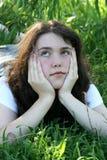 Cara de marfil bajo árbol de sauce Fotografía de archivo libre de regalías