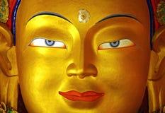 Cara de oro de buddha Imagen de archivo