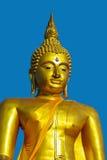 Cara de oro de Buddha Imagenes de archivo