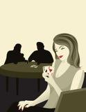 Cara de póker Foto de archivo