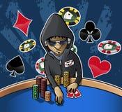 Cara de póker Fotografía de archivo