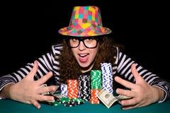 Cara de pôquer feliz Fotos de Stock Royalty Free