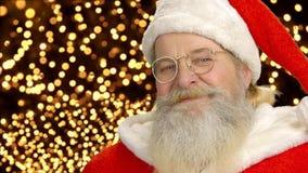 Cara de Papá Noel almacen de video