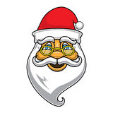 Cara de Papá Noel Imágenes de archivo libres de regalías
