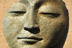 Cara de piedra contemplativa Fotografía de archivo libre de regalías