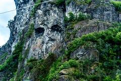 Cara de piedra del misterio en Noruega fotos de archivo libres de regalías