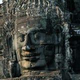 Cara de piedra del templo Bayon en Camboya Fotos de archivo libres de regalías