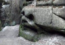 Cara de piedra en Adrspach Fotografía de archivo