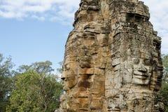 Cara de piedra en Bayon Templex Foto de archivo libre de regalías