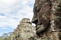 Cara de piedra en Bayon Templex Imagen de archivo libre de regalías