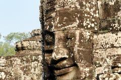 Cara de piedra en Bayon Templex Fotos de archivo libres de regalías