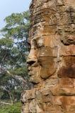 Cara de piedra en Bayon Templex Fotografía de archivo libre de regalías