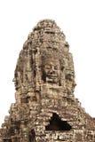 Cara de piedra gigante en el templo de Prasat Bayon, complejo de Angkor Wat, leva Foto de archivo libre de regalías
