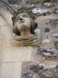 Cara de piedra tallada Fotografía de archivo