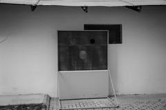 Cara de placas de madeira fotografia de stock