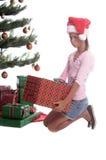 Cara de Pouty de la Navidad Fotos de archivo