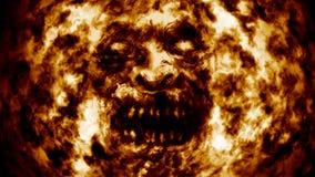 Cara de queimadura do espírito necrófago ilustração royalty free
