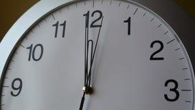 Cara de reloj almacen de metraje de vídeo